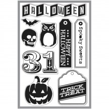 Hero Arts & Basic Grey Persimmon Halloween 31 Clear Stamp Set CL703