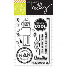"Hero Arts Clearly Kelly Super Cool 3""x4"" Clear Stamp Set CL815"