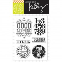 "Hero Arts Clearly Kelly Live Big 3""x4"" Clear Stamp Set CL816"
