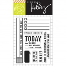 "Hero Arts Clearly Kelly Take Note 3""x4"" Clear Stamp Set CL818"