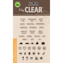 "Hero Arts Clearly Kelly To Do List 4""x6"" Clear Stamp Set CL848"