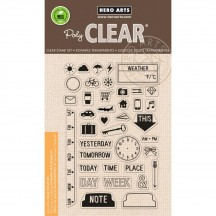 "Hero Arts Clearly Kelly My Week 4""x6"" Clear Stamp Set CL849"