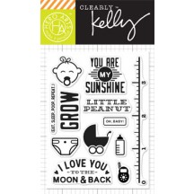 "Hero Arts Clearly Kelly Oh Baby 3""x4"" Clear Stamp Set CL871"