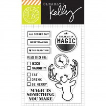 """Hero Arts Clearly Kelly All Decked Out Christmas 3""""x4"""" Clear Stamp Set CL892"""
