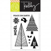 """Hero Arts Clearly Kelly Kelly's Noel Christmas 3""""x4"""" Clear Stamp Set CL893"""