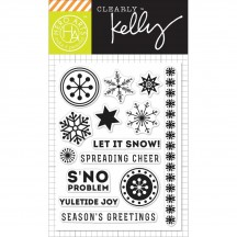 """Hero Arts Clearly Kelly S'no Problem Christmas 3""""x4"""" Clear Stamp Set CL894"""