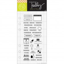 "Hero Arts Clearly Kelly Appointment Planner 2.5""x6"" Clear Stamp Set CL933"