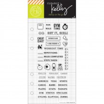 "Hero Arts Clearly Kelly Fitness Planner 2.5""x6"" Clear Stamp Set CL937"