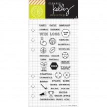 "Hero Arts Clearly Kelly Sports Planner 2.5""x6"" Clear Stamp Set CL938"