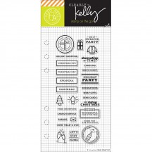 "Hero Arts Clearly Kelly Winter Planner 2.5""x6"" Clear Stamp Set CL990"