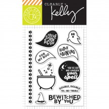 "Hero Arts Clearly Kelly Spooktacular 3""x4"" Halloween Clear Stamp Set CL993"