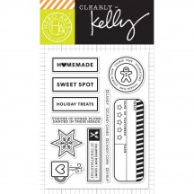 "Hero Arts Clearly Kelly Holiday Treats 3""x4"" Clear Stamp Set CL995"