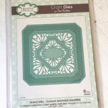 Creative Expressions Sue Wilson Classic Adorned Squares Noble Die Set CED5503