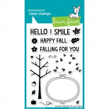 """Lawn Fawn Sweater Weather 4""""x6"""" Clear Stamps LF702"""