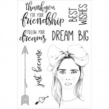 Kaisercraft Boho Dreams Clear Stamp Set CS266