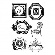 Prima Marketing Debutante Cling Rubber Stamp Set 579128