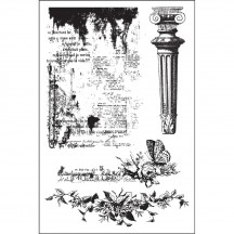 Prima Marketing Garden Fable Cling Rubber Stamp Set 579135