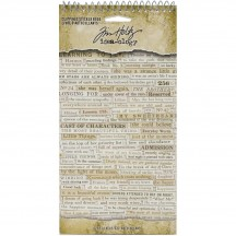 Tim Holtz Idea-ology Clippings Phrase Sticker Book TH94030