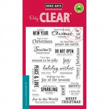 """Hero Arts Christmas Messages 4""""x6"""" Clear Stamp Set CM100"""