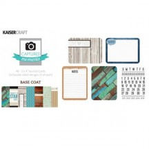"Kaisercraft Captured Moments Base Coat 3""x4"" Double Sided Journal Cards CM110"