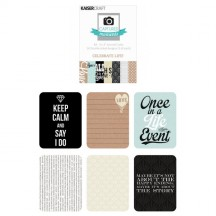 "Kaisercraft Captured Moments Celebrate Life! 3""x4"" Double Sided Journal Cards CM111"