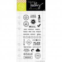 "Hero Arts Clearly Kelly Goal Planner 2.5""x6"" Clear Stamp Set CM114"