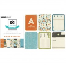 "Kaisercraft Captured Moments Wanderlust A is For Adventure 3""x4"" Double Sided Journal Cards CM125"