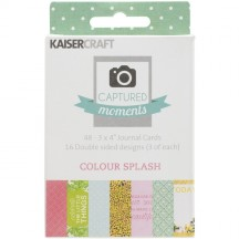 "Kaisercraft Captured Moments Colour Splash 3""x4"" Double Sided Journal Cards CM128"