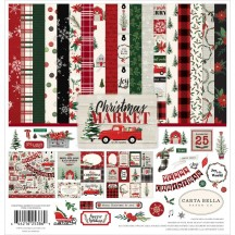 "Carta Bella Christmas Market 12""x12"" Collection Kit CM106016"
