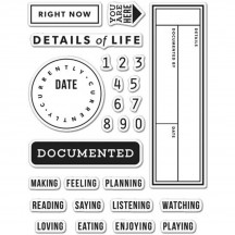 """Hero Arts Clearly Kelly Kelly's Details of Life 3""""x4"""" Clear Stamp Set CM138"""