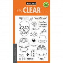 "Hero Arts Sugar Skulls 4""x6"" Clear Stamp Set CM190"