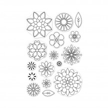 "Hero Arts Blossoms For Coloring 4""x6"" Clear Stamp Set CM255"