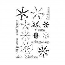 "Hero Arts Stacking Snowflakes 4""x6"" Clear Christmas Stamp Set CM308"