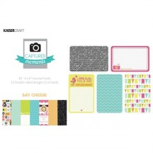 """Kaisercraft Captured Moments Say Cheese 4""""x6"""" Double Sided Journal Cards CM309"""