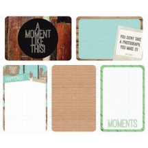 "Kaisercraft Captured Moments Base Coat 4""x6"" Double Sided Journal Cards CM310"