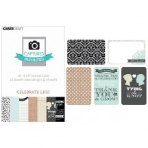 """Kaisercraft Captured Moments Celebrate Life! 4""""x6"""" Double Sided Journal Cards CM311"""