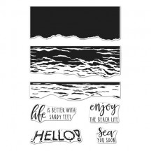 "Hero Arts Color Layering Waves 4""x6"" Clear Stamp Set CM316"