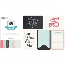 """Kaisercraft Captured Moments XO Be Mine 4""""x6"""" Double Sided Journal Cards CM321"""