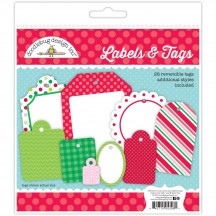 Doodlebug Christmas Magic Here Comes Santa Claus Labels & Tags Die-Cut Cardstock Ephemera 5396
