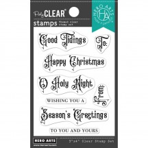 """Hero Arts Victorian Christmas Messages 3""""x4"""" Clear Stamp Set CM577"""