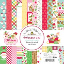 "Doodlebug Christmas Magic 6""x6"" Paper Pad 24 Sheets 6531"