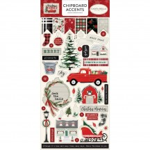 Carta Bella Christmas Market Self Adhesive Chipboard Accents Stickers CM106021