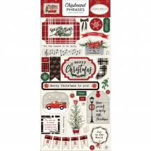 Carta Bella Christmas Market Self Adhesive Chipboard Phrases Stickers CM106022