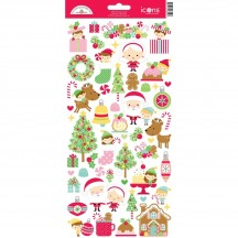 "Doodlebug Christmas Magic 6""x12"" Icons Cardstock Stickers 6559"