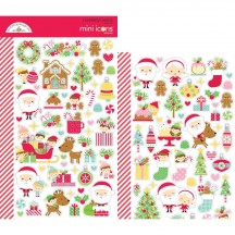 Doodlebug Christmas Magic Mini Icons Cardstock Stickers 6471