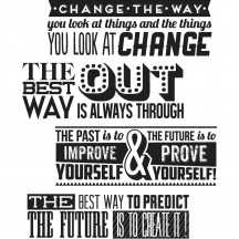 Tim Holtz Motivation 2 Cling Mount Sets Collection from Stampers Anonymous CMS290
