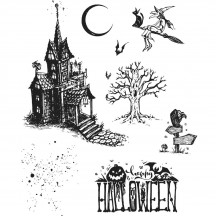 Tim Holtz Haunted House Cling Mount Sets Collection from Stampers Anonymous CMS308