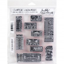 Stampers Anonymous Tim Holtz Ticket Booth Cling Mount Set CMS337
