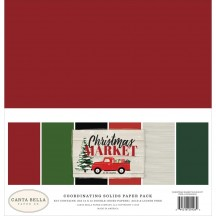 "Carta Bella Christmas Market 12""x12"" Solids Paper Kit CM106015"