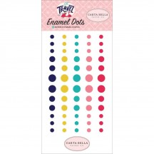 Carta Bella Let's Travel Enamel Dots - pink, aqua, yellow LT100028